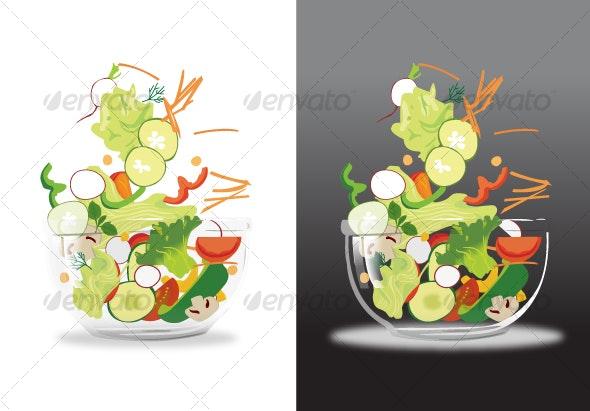 Fresh Salad - Food Objects