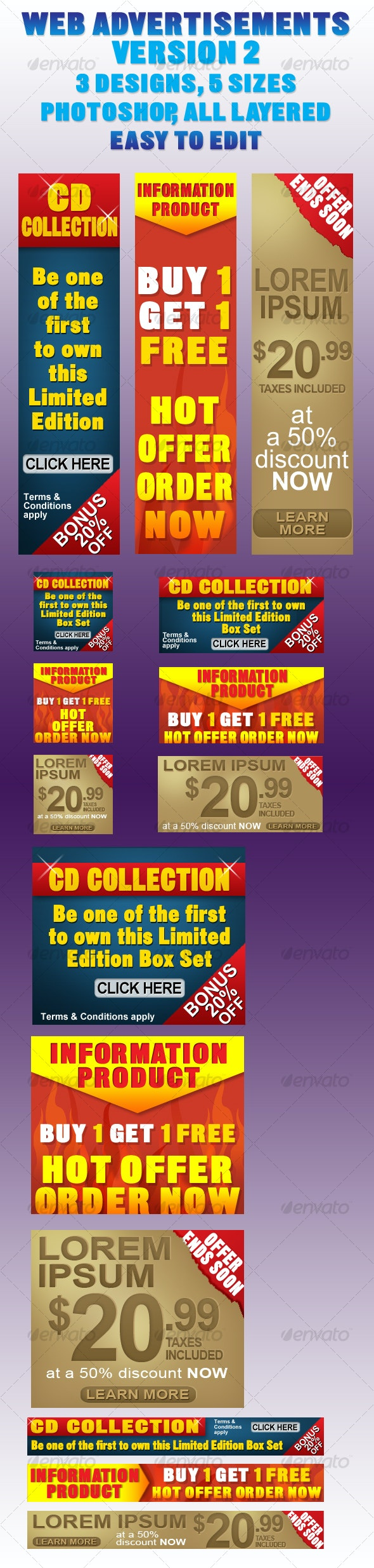 Web Advertisements Version 2 - Miscellaneous Web Elements