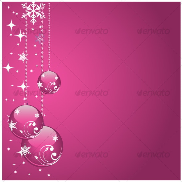 Pink balls - Christmas Seasons/Holidays