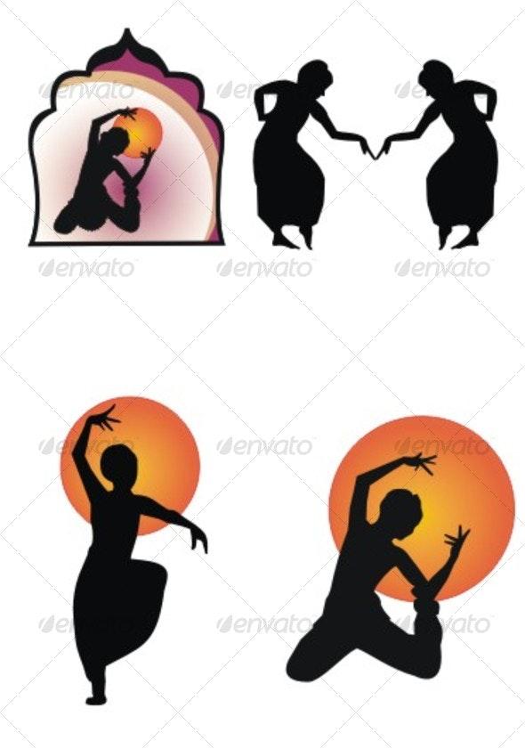 Dancing Figures - People Characters