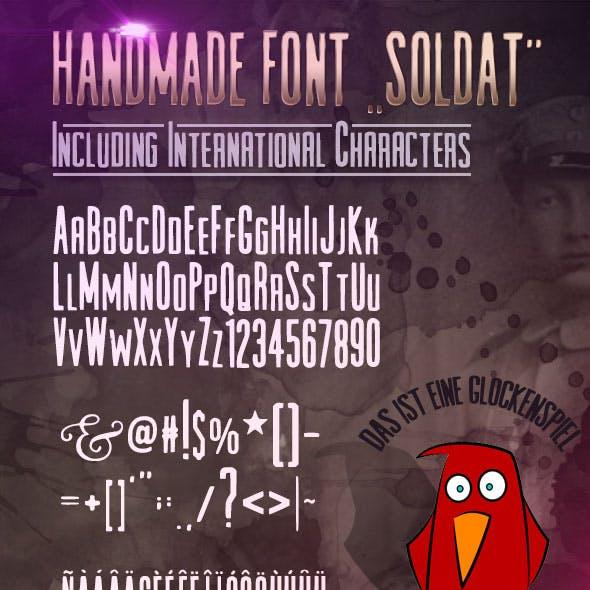 Handmade Font Soldat