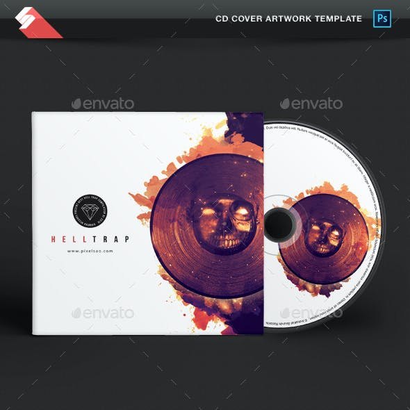 Hell Trap - Music CD Cover Artwork Template