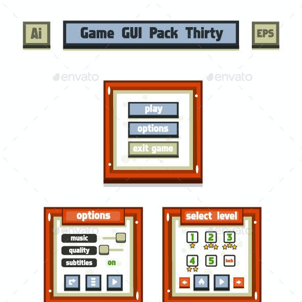 Game GUI Pack Thirty