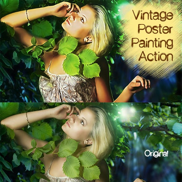 Vintage Poster Painting Effect Acction