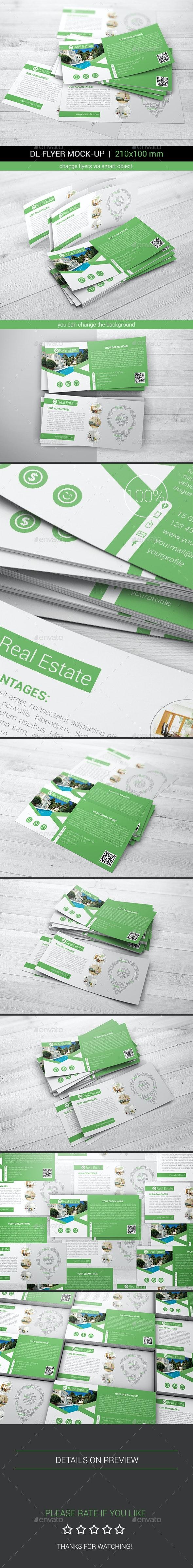 DL Flyer Mock-Ups - Flyers Print