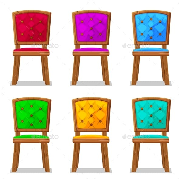 Cartoon Colorful Wooden Chair