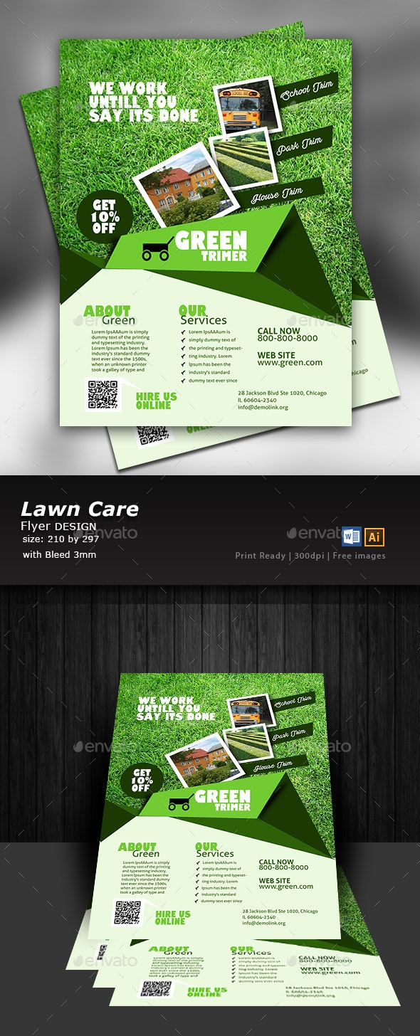 Garden and Lawn care Flyer  - Flyers Print Templates