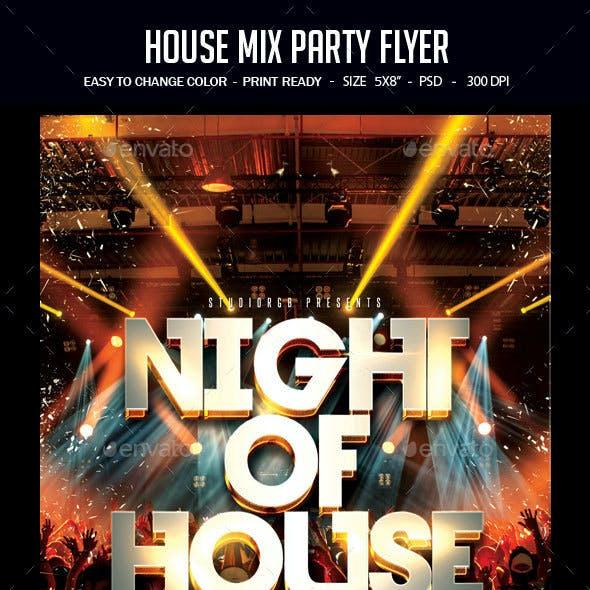 House Mix Party Flyer