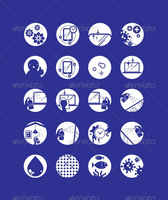 Multi-Purpose Cleaner Icons - Industries Business