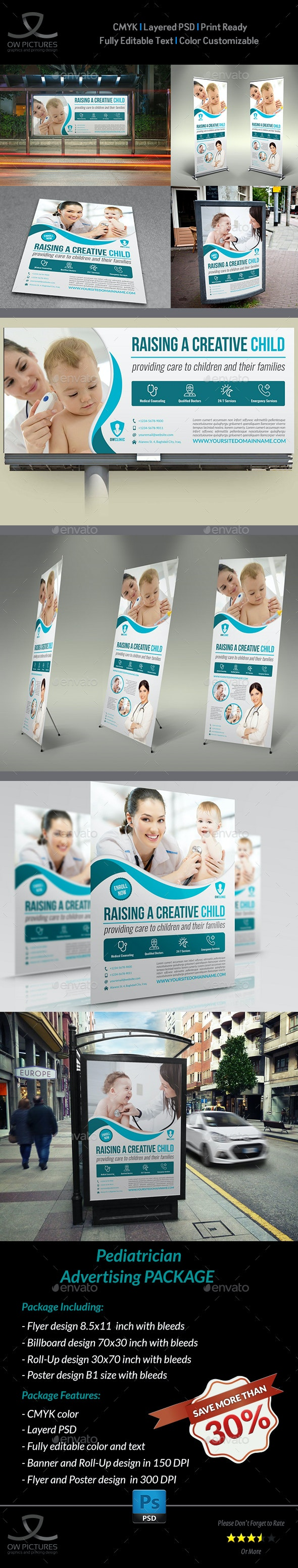 Pediatrician Advertising Bundle - Signage Print Templates