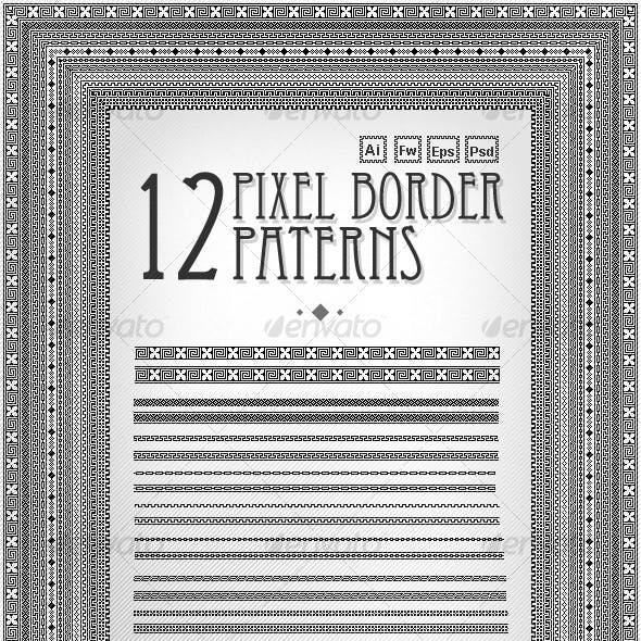 Pixel border pattern Pack(12 piece)