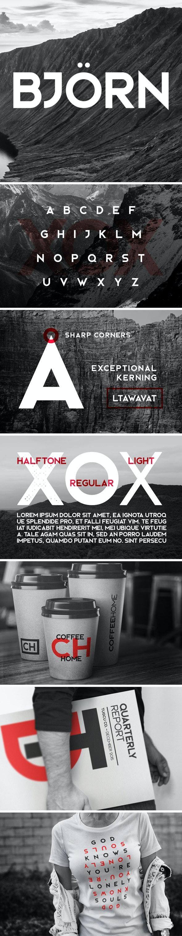 Bjorn Typeface - Sans-Serif Fonts