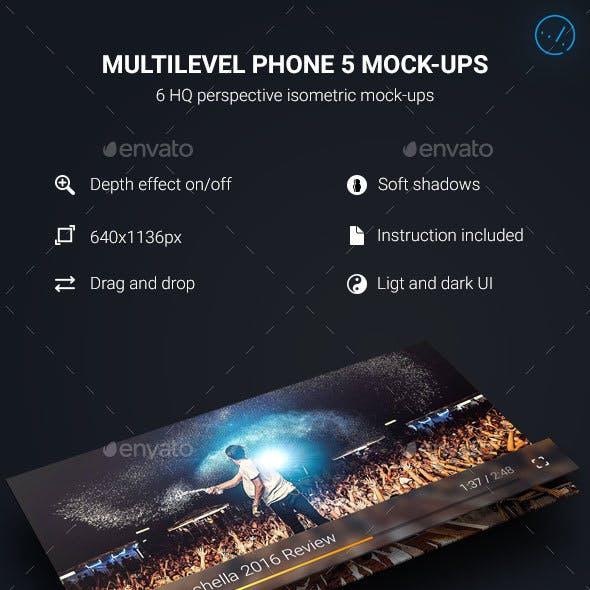 Multilevel Phone 5 Mock-Ups