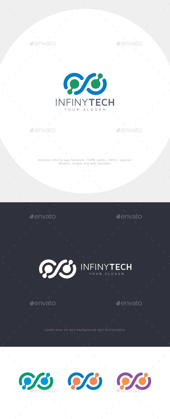 Infinity Connect Logo - Abstract Logo Templates