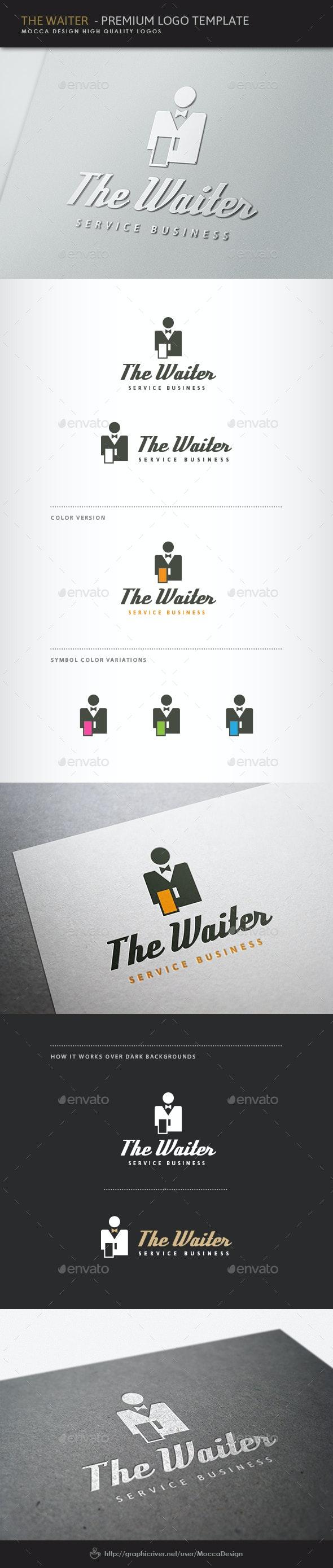 The Waiter Logo - Food Logo Templates