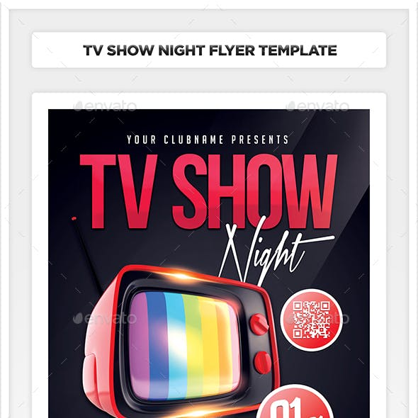 TV Show Night Flyer Template