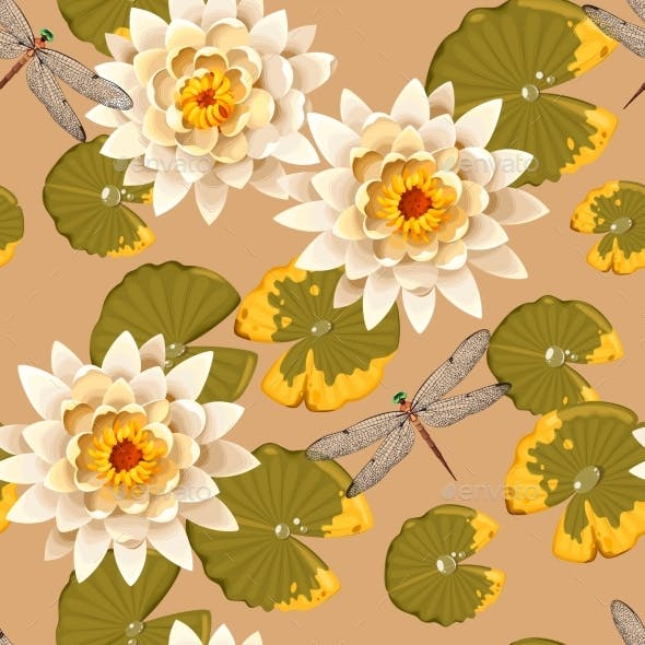 Seamless Carps And Lotus