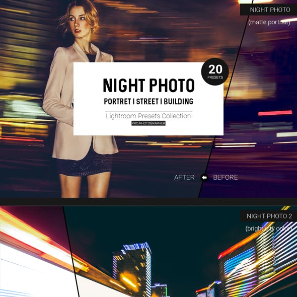 Night Photo Lightroom Presets