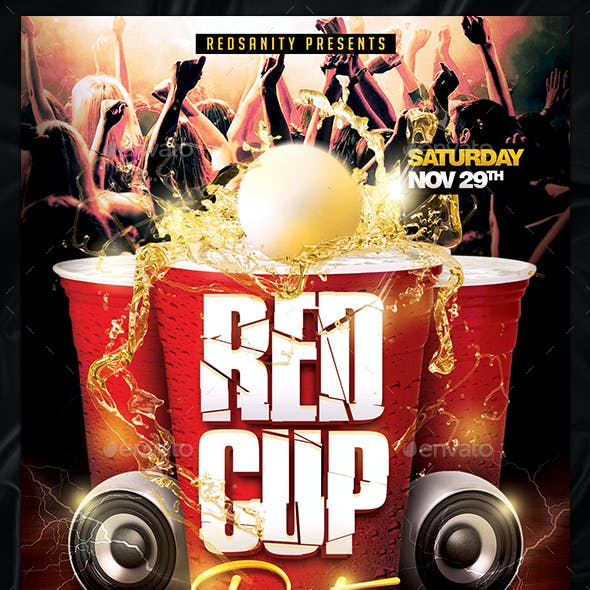 Red Cup Party Flyer V1