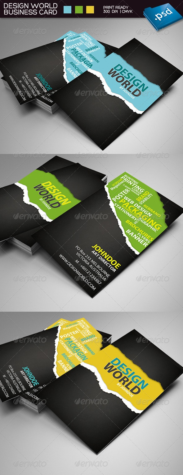 Design World Business Card - Creative Business Cards