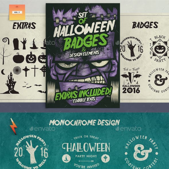 Halloween Badges & Extras Vol.1