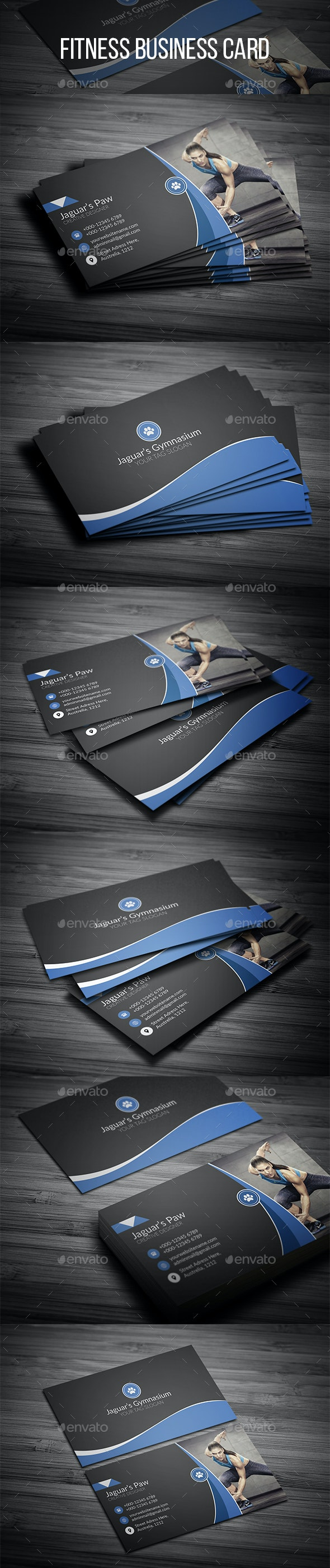 Fitness Business Card - Creative Business Cards