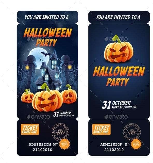 Halloween Invitation Flyer - Halloween Seasons/Holidays