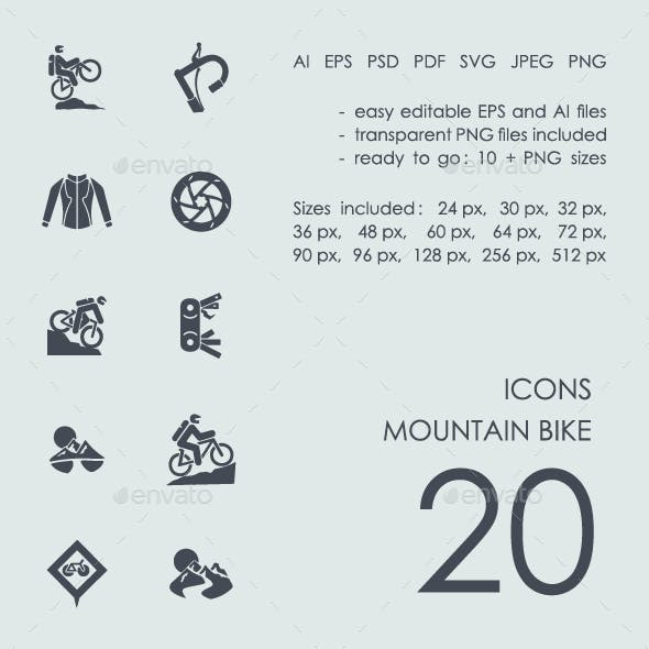 Mountain bike icons