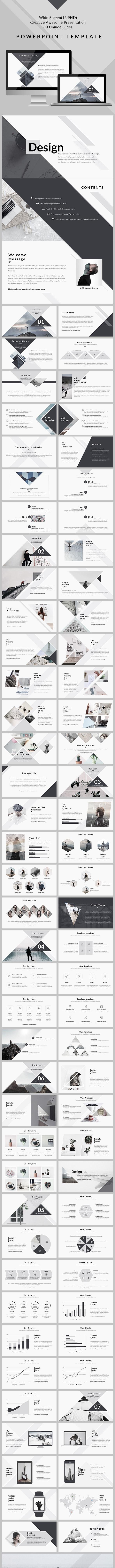 Design - Clean & Creative PowerPoint Presentation - Creative PowerPoint Templates