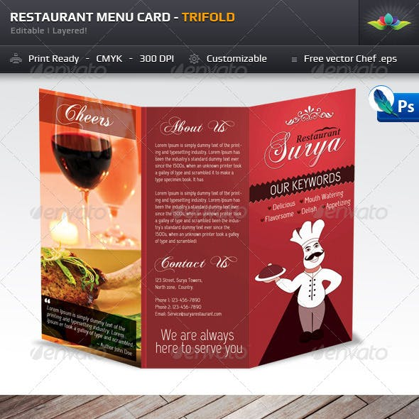 Menu Card Graphics, Designs & Templates from GraphicRiver