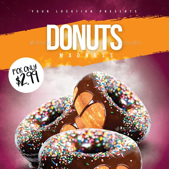 Donuts Madness Flyer