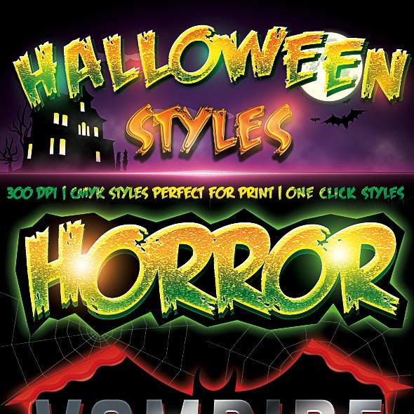 Halloween Styles - Cmyk Photoshop