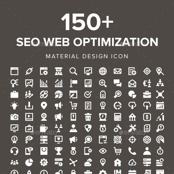 150+ SEO Web Optimization Icons