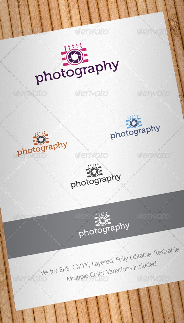 Events Photographer Logo Template - Objects Logo Templates
