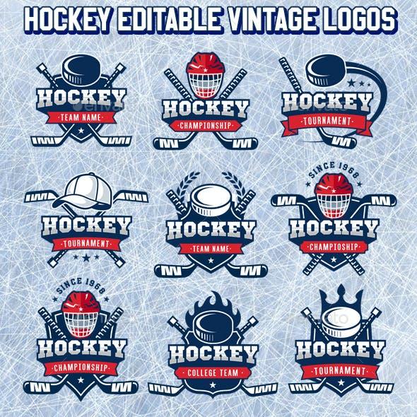 Vector Editable Hockey Logos