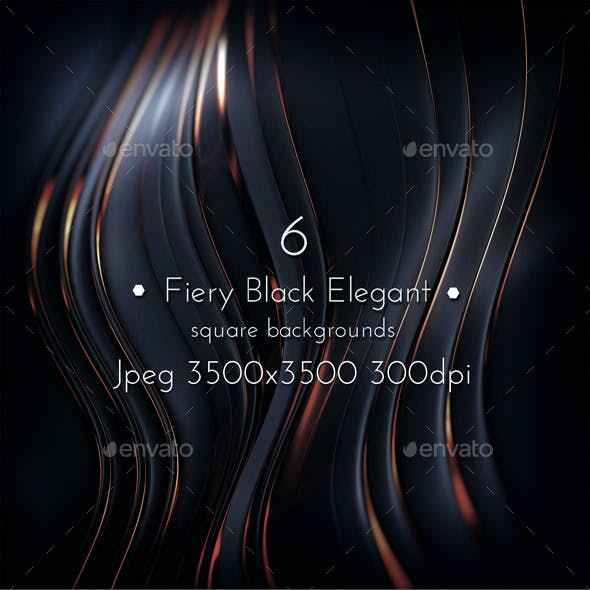 Fiery Black Elegant Background