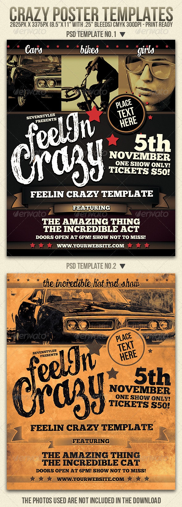 Crazy Flyer Templates - Clubs & Parties Events