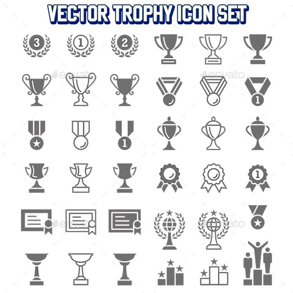 Vector Trophy Icon Set