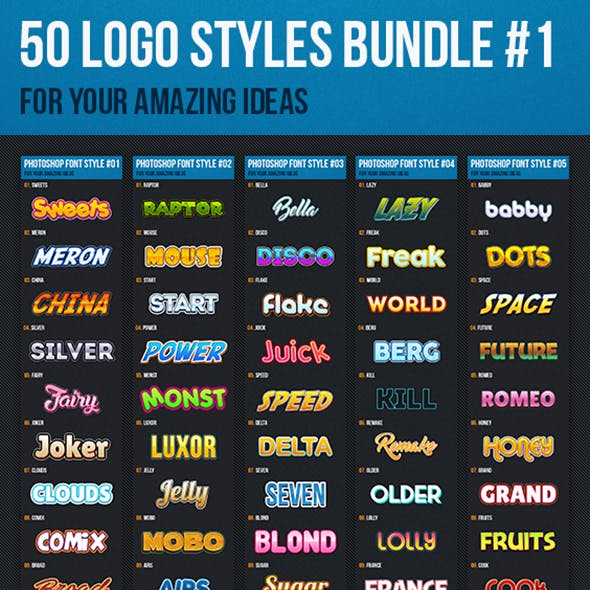 Photoshop Text Style Effects Bundle 1