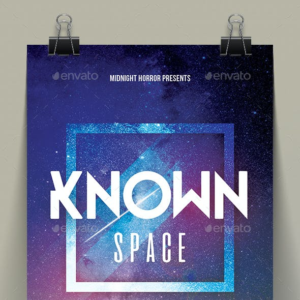 Known Space Party Flyer