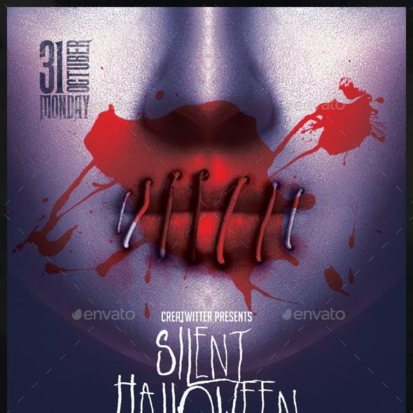 Silent Halloween Party Flyer