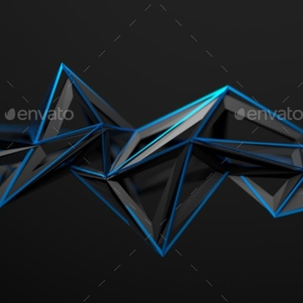 Abstract 3D Rendering Of Polygonal Shape.