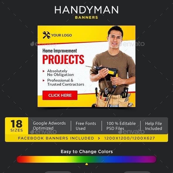 Handyman Banners
