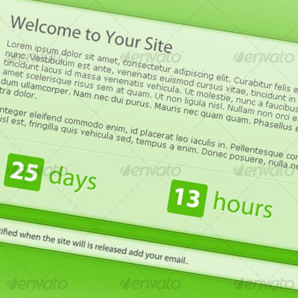 Premium Countdown Page