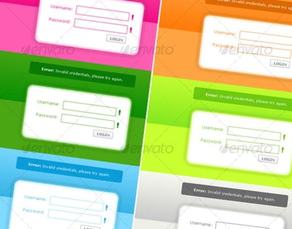 Premium Login Layout Pages (Multiple Colors!) - Miscellaneous Web Elements