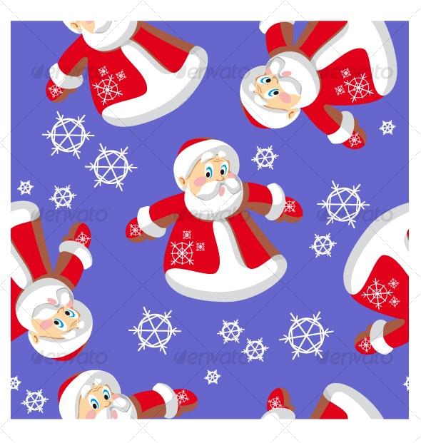 Seamless xmas  ornament 73 - Patterns Decorative