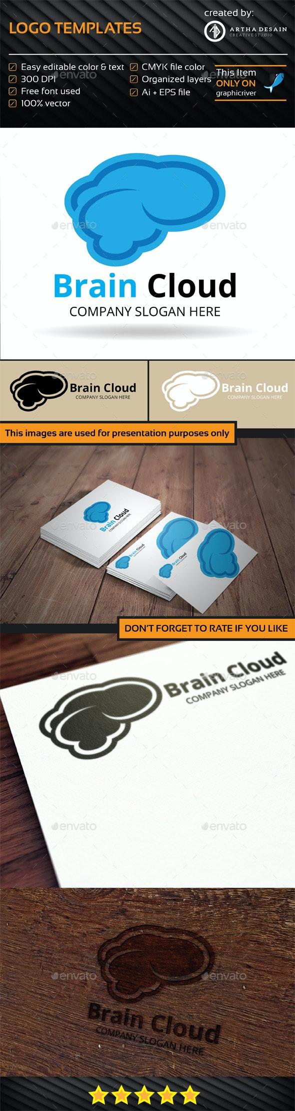 Brain Cloud - Logo Template - Logo Templates
