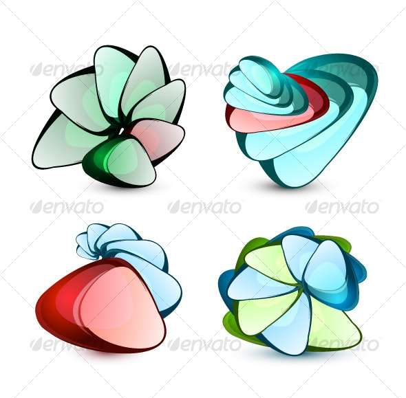 Abstract glass shapes - Decorative Symbols Decorative
