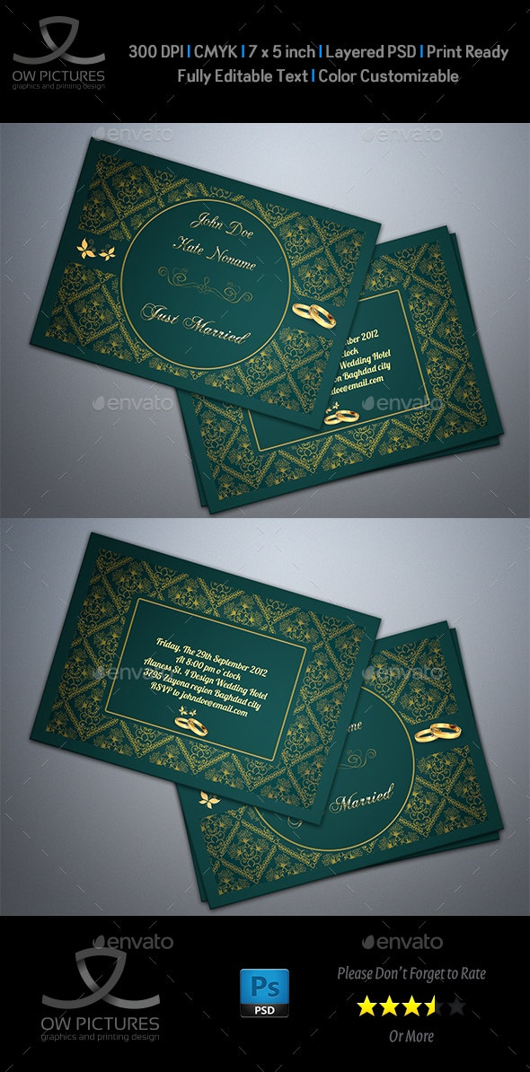 Wedding Invitation Vol.2 - Weddings Cards & Invites