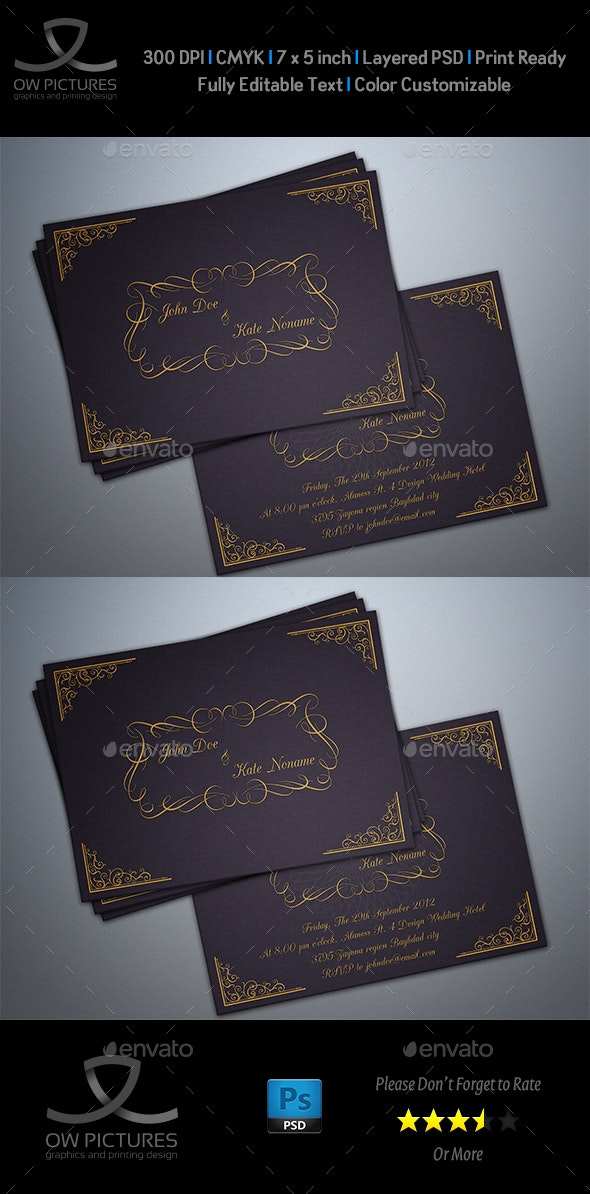 Wedding Invitation Card Vol.3 - Weddings Cards & Invites
